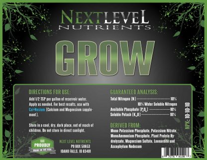 NLN-Grow-Label