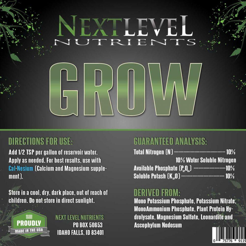 NLN-Grow-Label